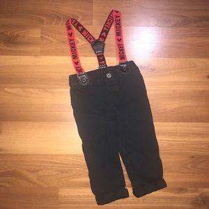Disney Mickey Mouse Reversible Suspender Pants